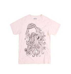 T-shirt Lightning Bolt® Neptune | Branco com Padrão