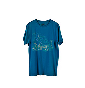 T-shirt Lightning Bolt® Monster Fish | Azul Marinho