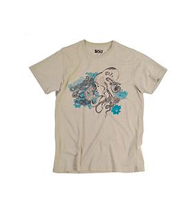 T-shirt Lightning Bolt® Octo Head | Bege com Padrão