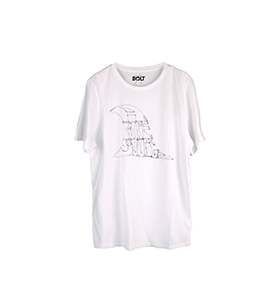 T-shirt Lightning Bolt® Finny | Branco