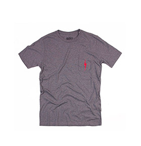 T-shirt Lightning Bolt® Pocket | Cinzento