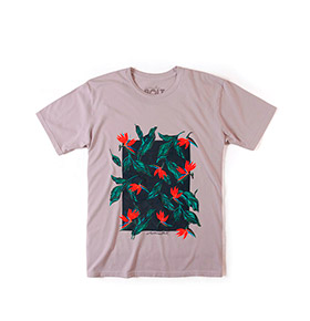 T-shirt Lightning Bolt® Birds of Paradise | Cinzento