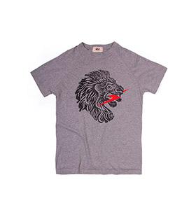 T-shirt Lightning Bolt® Jersey Lion | Cinzento