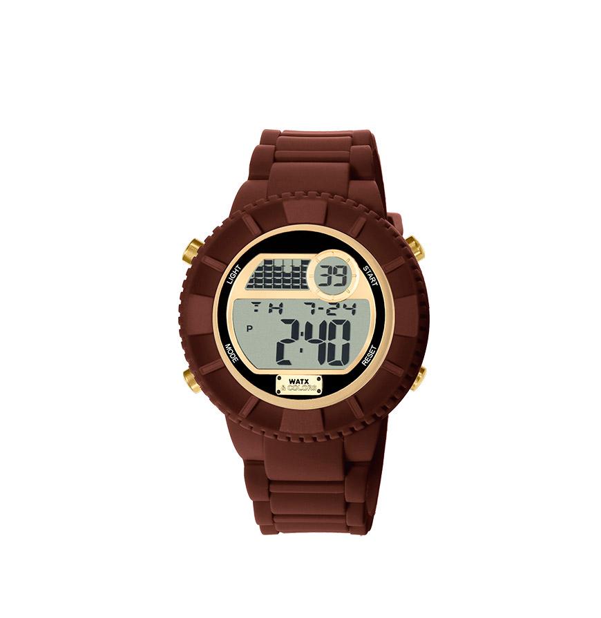 Relógio Watx & Colors® M Rock | Castanho e Dourado