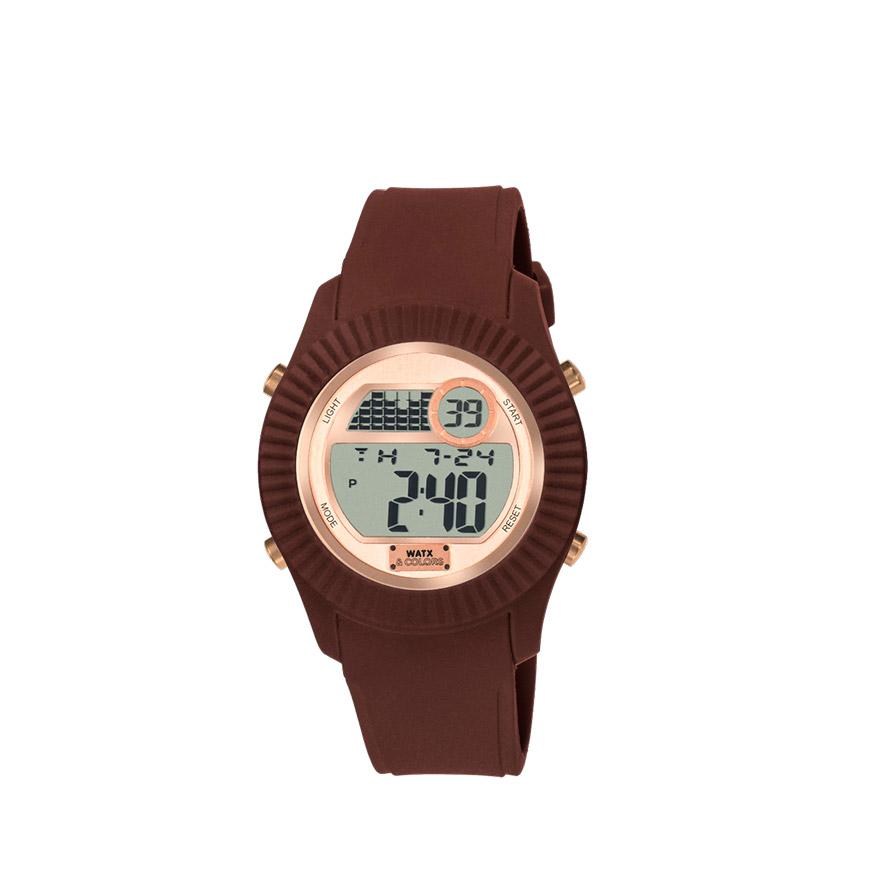 Relógio Watx & Colors® M Rock Rosa Gold | Castanho
