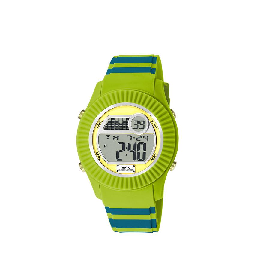 Relógio Watx & Colors® M Smart Malibu Bicolor Azul petróleo e verde | Amarela
