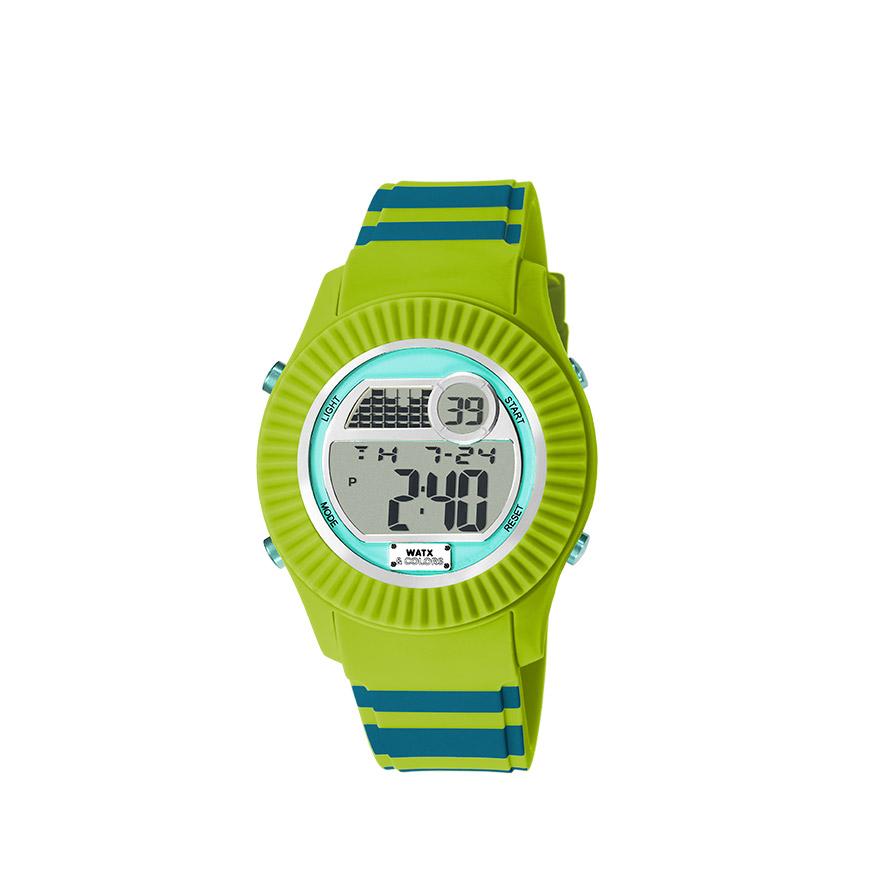 Relógio Watx & Colors® M Rock Candy Verde   Bicolor Azul Petróleo e Verde