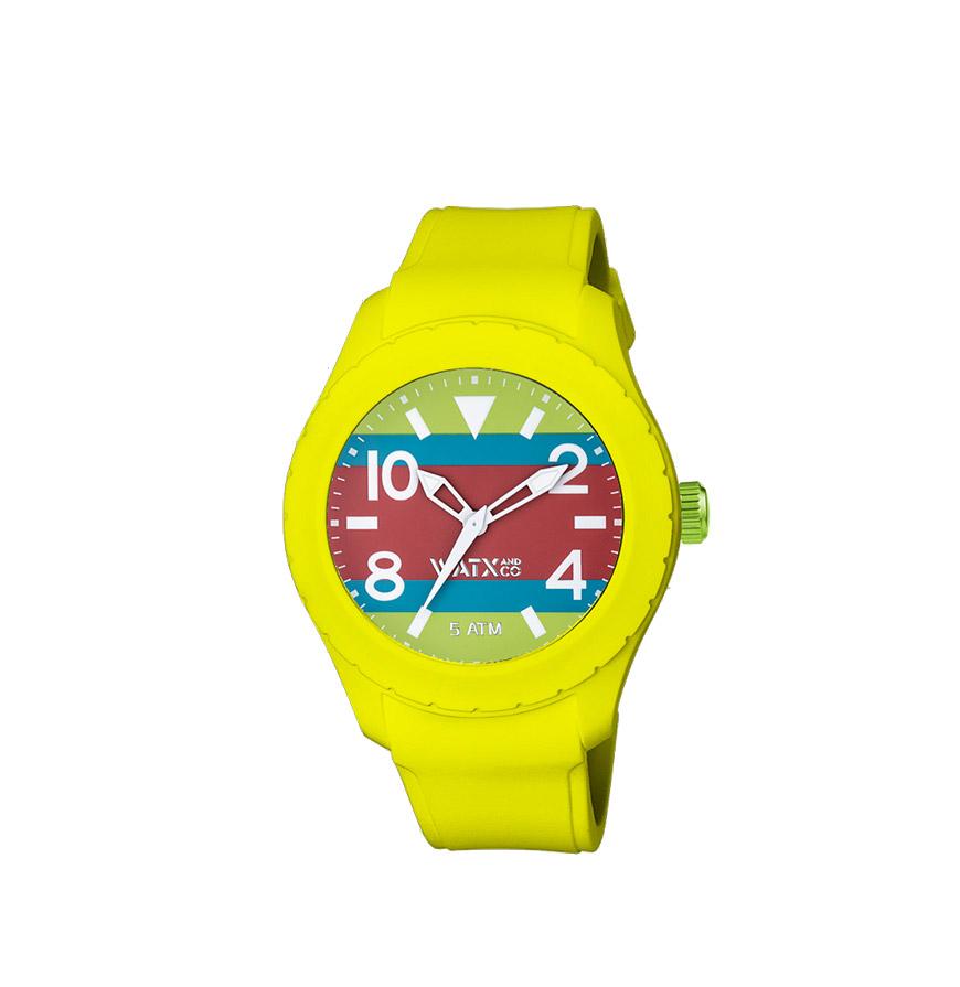 Relógio Watx & Colors® XXL Malibu Multistripes Azul, Verde e Vermelho | Caipirinha