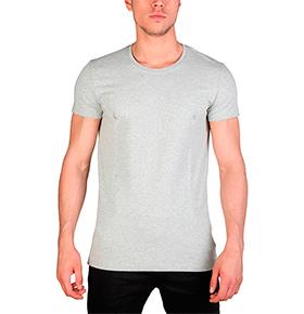 T-Shirt Homem Calvin Klein® |  Cinza Claro