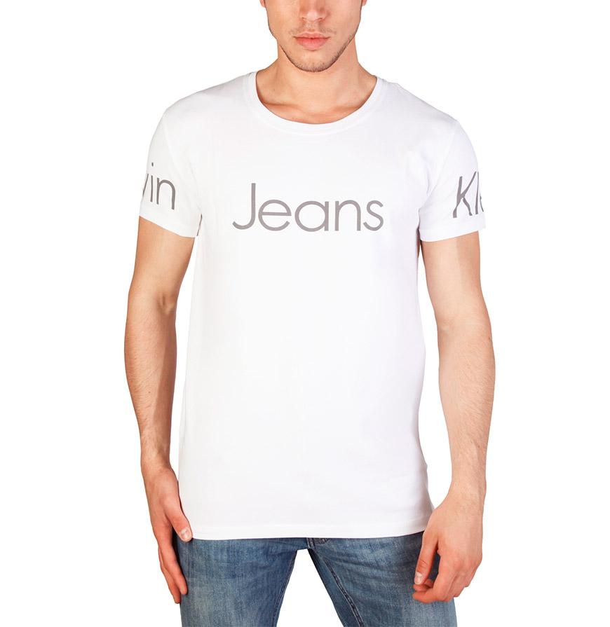 T-Shirt Gola Redonda Calvin Klein® |  Branco