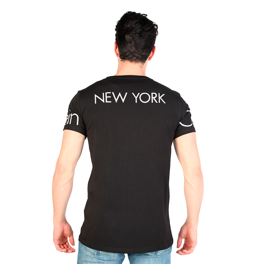 T-Shirt Gola Redonda Calvin Klein® |  Preto