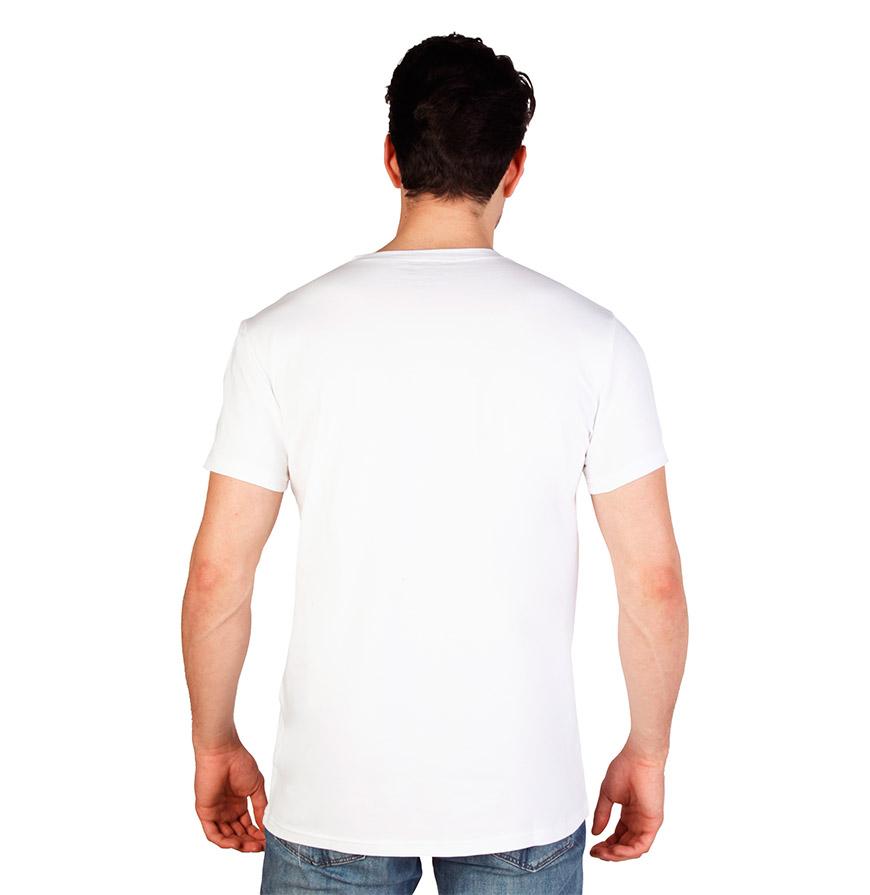 T-Shirt Gola em Bico Calvin Klein® |  Branco