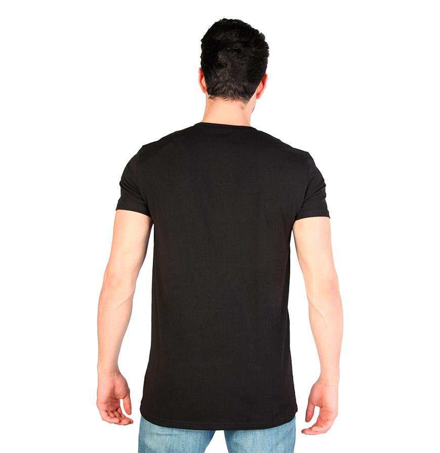 T-Shirt Gola em Bico Calvin Klein®    Preto
