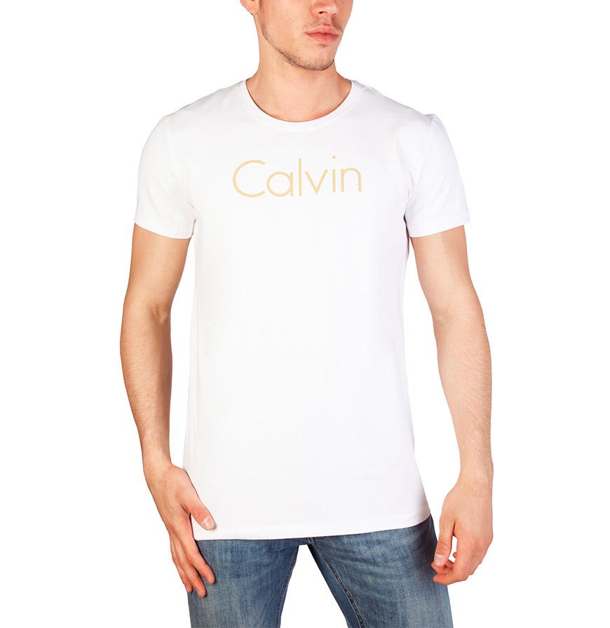 T-Shirt Calvin Klein® |  Branco e Dourado