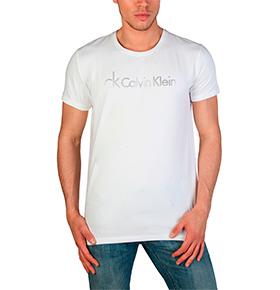 T-Shirt Calvin Klein® |  Branco e Cinza