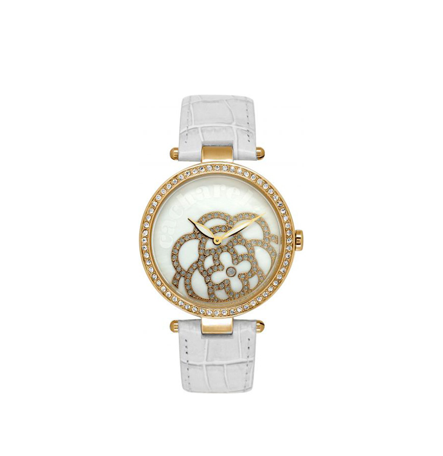 Relógio Cacharel® CLD001S1BB   Branco e Dourado