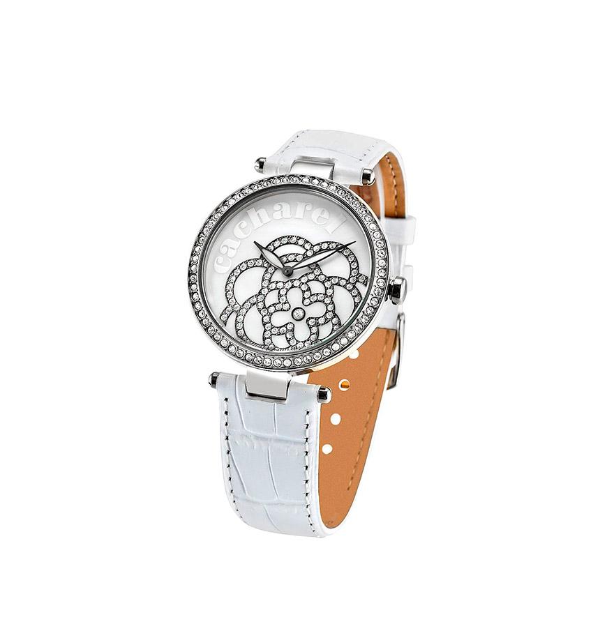 Relógio Cacharel® CLD001SBB | Branco e Prateado