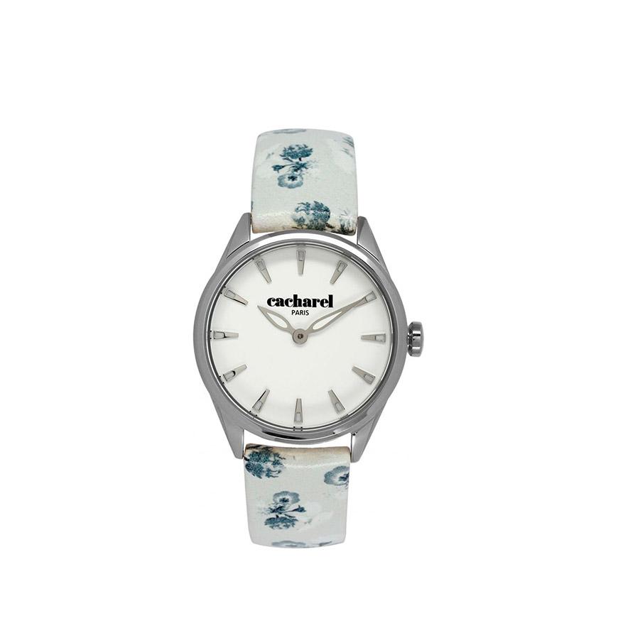 Relógio Cacharel® CLD012BB | Branco com Flores