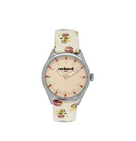 Relógio Cacharel® CLD012XX   Bege com Flores