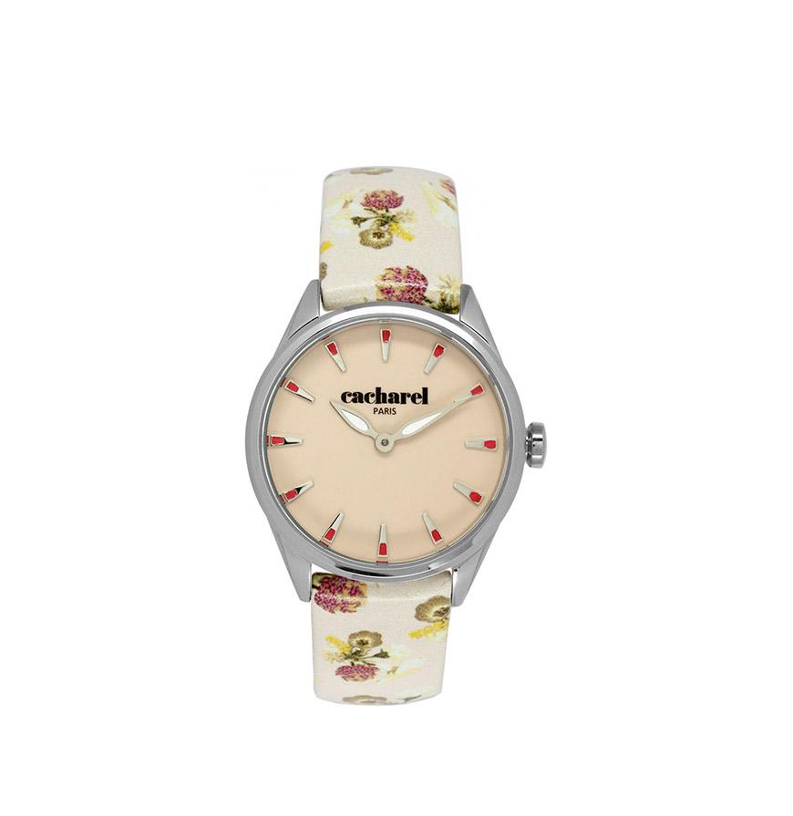 Relógio Cacharel® CLD012XX | Bege com Flores