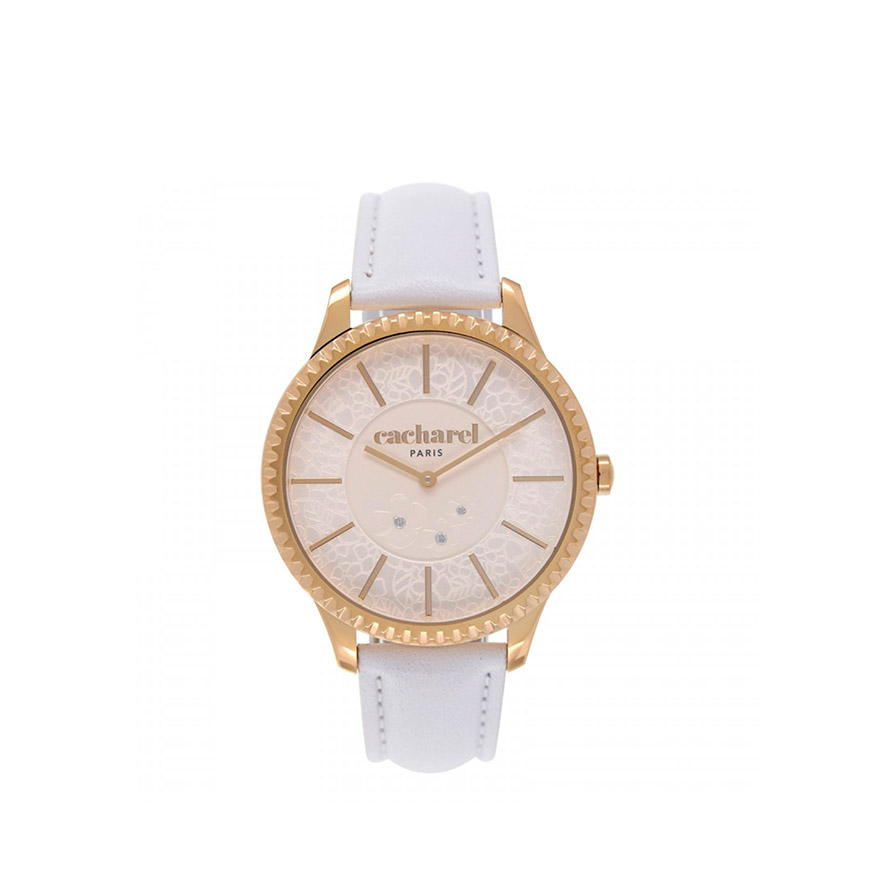 Relógio Cacharel® CLD0361BB | Branco e Dourado