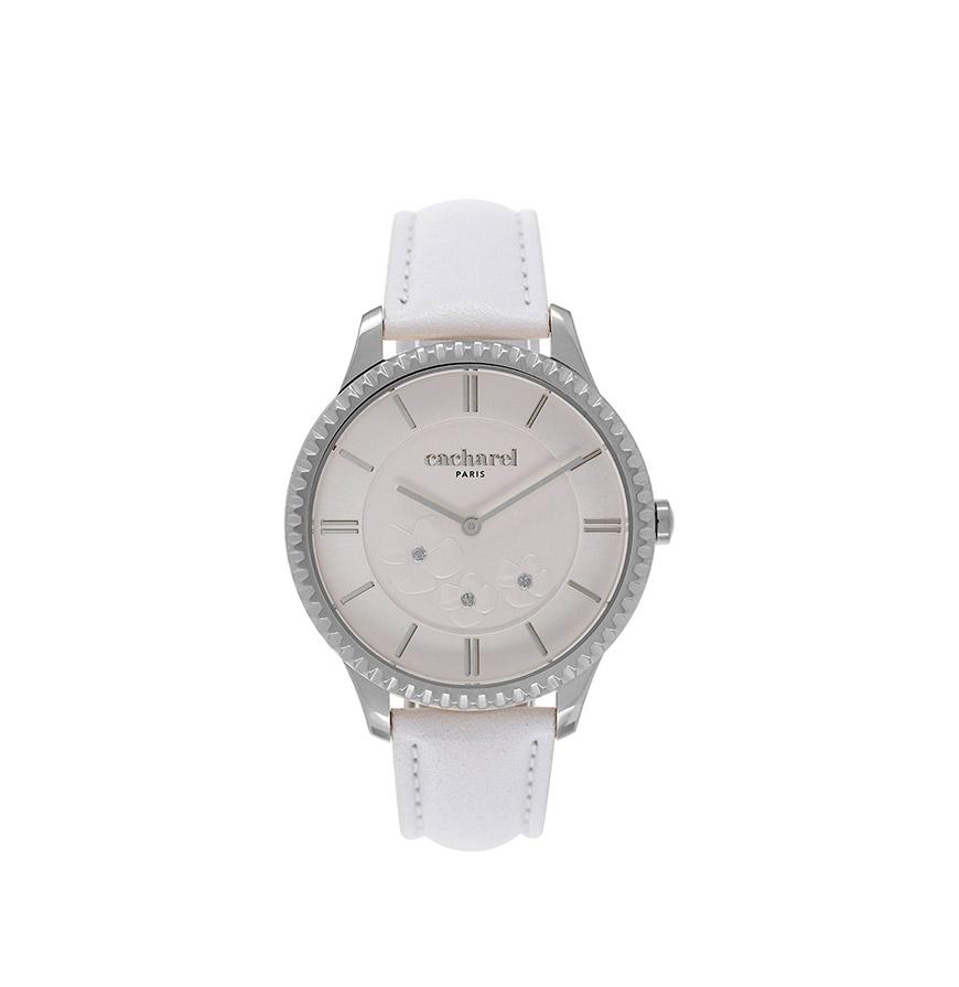 Relógio Cacharel® CLD036BB | Branco e Prateado