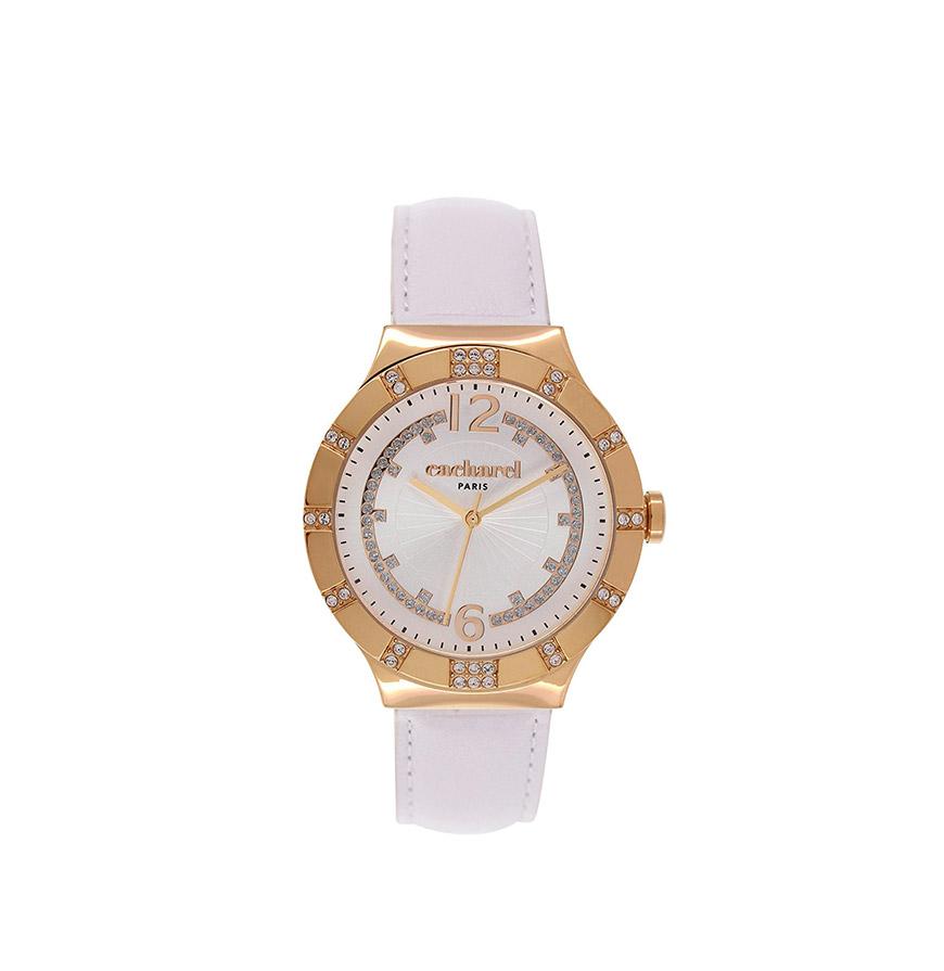 Relógio Cacharel® CLD039S1BB | Branco e Dourado