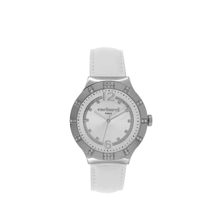 Relógio Cacharel® CLD039SBB | Branco e Prateado