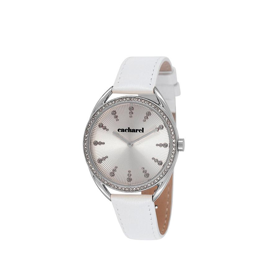 Relógio Cacharel® CLD050SFB   Branco e Prateado