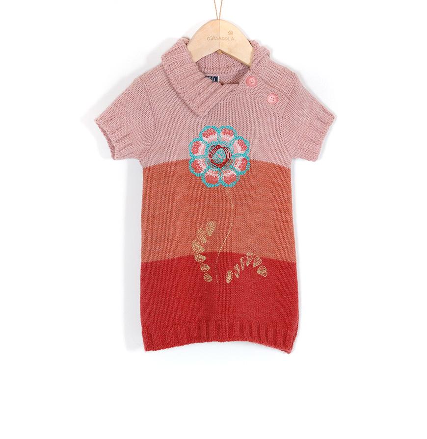 Vestido Mini Girandola®   Rosa, Laranja e Vermelho