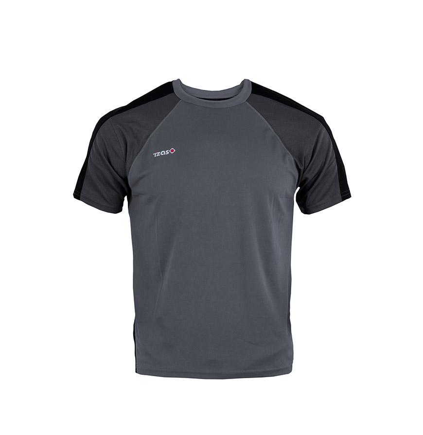 T-shirt Izas® Cinza Escuro e Preto