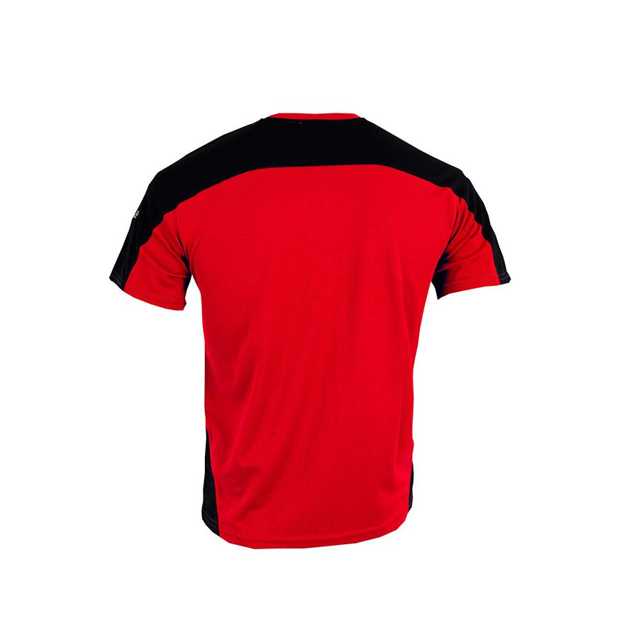 T-shirt Izas® Cinza Escuro e Vermelho