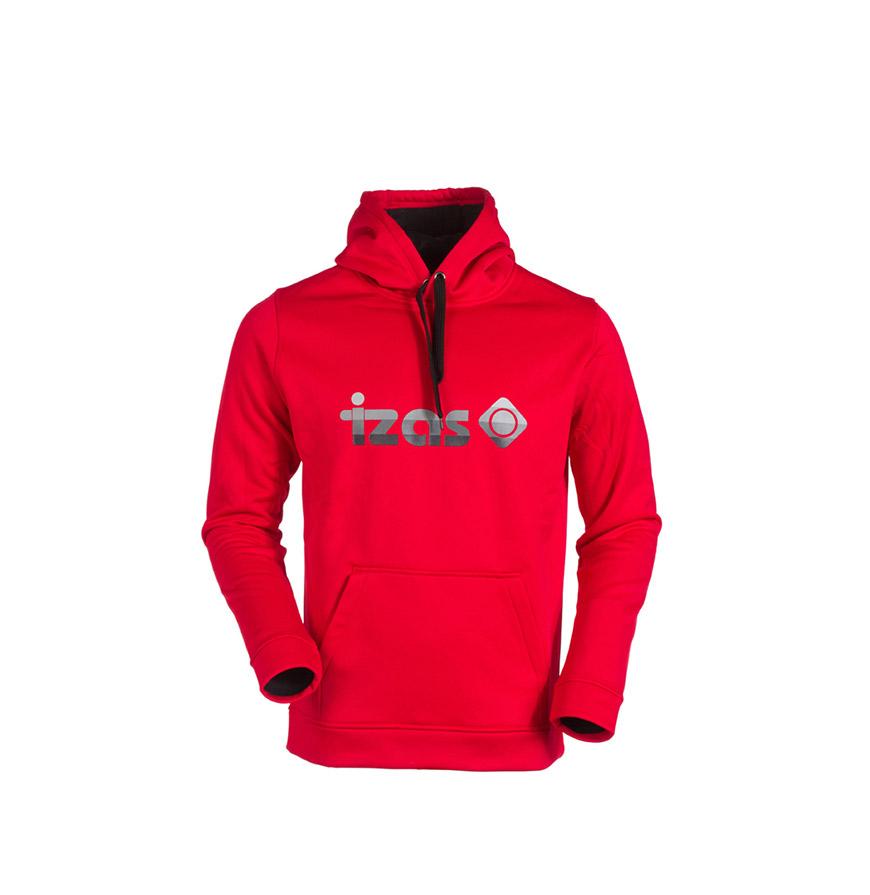 Camisola com Bolsos Izas® | Vermelho e Preto