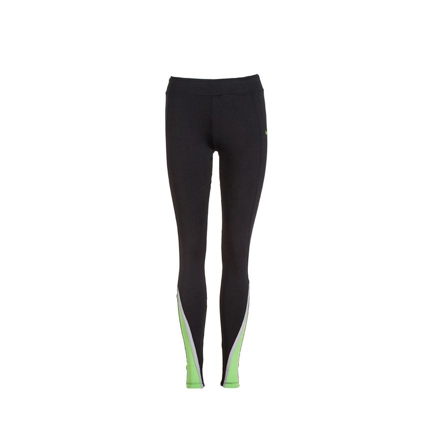 Calças de Corrida Izas® | Preto e Verde Claro