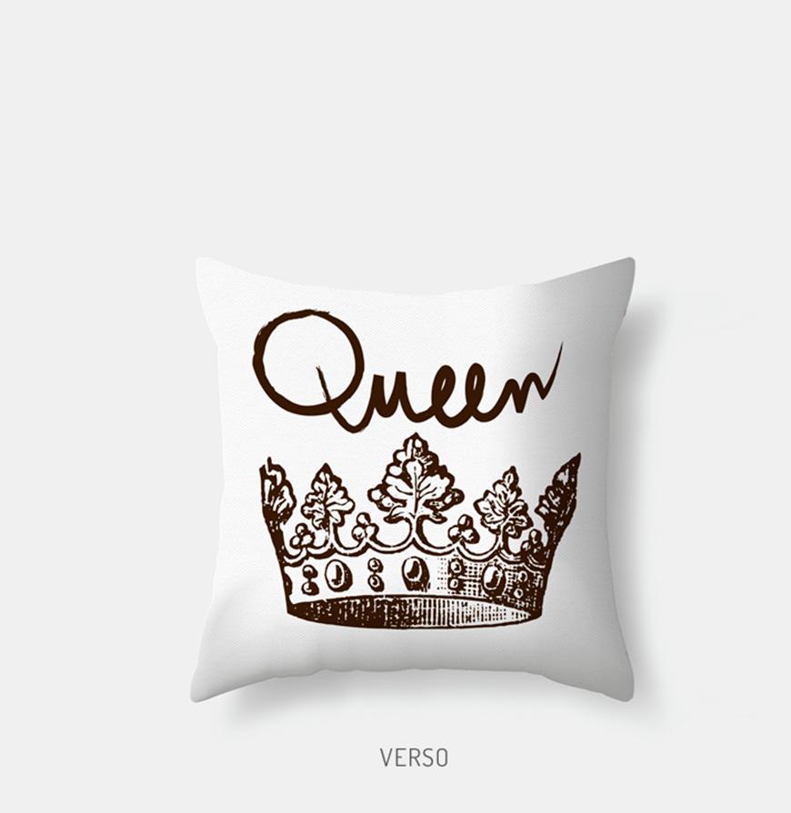 Capa de Almofada de Autor King & Queen | Verse