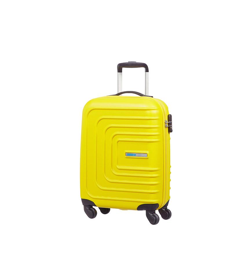 Mala American Tourister® SunsetSquare Spinner 55cm   Amarelo