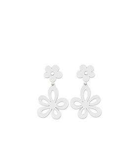 Brincos Cacharel® CAW075 | Prateado com Flores