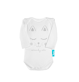 Body com Manga Comprida Pooch® Cute | Cinza