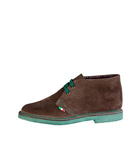 Bota Made in Italy® em Pele | Castanho e Verde