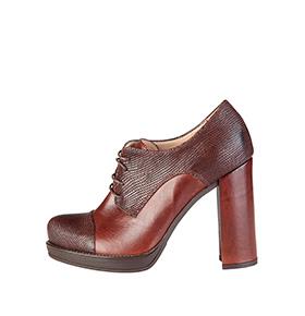 Sapatos Salto em Pele Made in Italy® |  Castanho