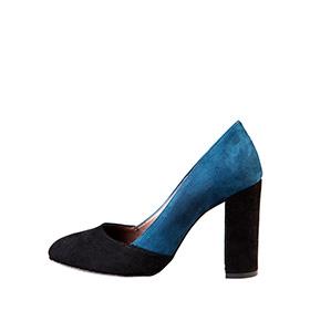 Sapatos em Pele Made in Italy®    Azul e Preto