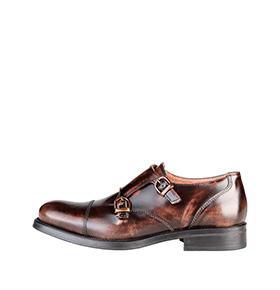Sapatos em Pele Made in Italy® |  Castanho c/ Fivela