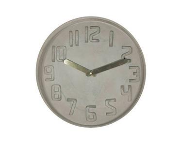 Relógio Concrete com Ponteiros Dourado