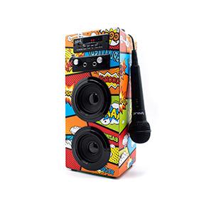 Coluna JoyBox® com Bluetooth e Microfone | Comic BD