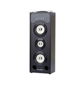 Coluna JoyBox® com Bluetooth e Microfone PRO| Preto e Branco