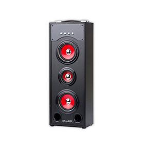 Coluna JoyBox® com Bluetooth e Microfone PRO | Preto e Vermelho