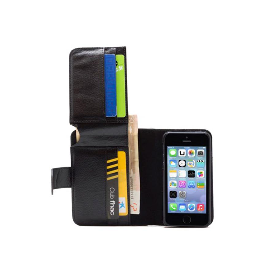 Capa iPhone 5, 5S e 5C com Porta Cartões