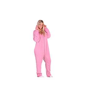 Pijama com Carapuço | Rosa