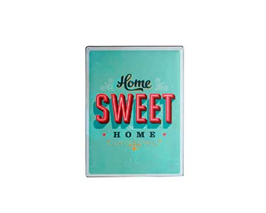 Placa de Metal Retro |  Home Sweet Home