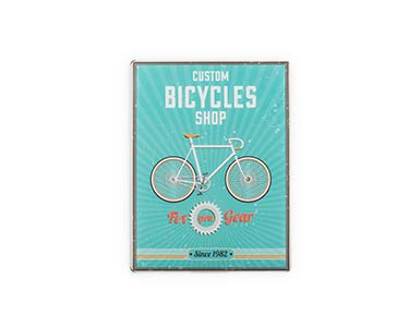 Placa de Metal Retro | Bicycles Shop